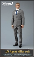 Male Agent Suit Set - Grey Version - Vor Toys 1/6 Scale Accessory Set