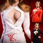 Elizabeth Keyhole Gown - Three Color Options - VS Toys 1/6 Scale Accessory
