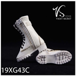 White Zipper Boots - VS Toys 1/6 Scale Figure