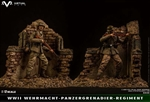 Simulated War Ruins Diorama Base - Pocket Elite Series - Virtual Toys 1/12 Scale