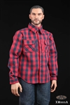 Plaid Shirt and Jeans Set - Red Version - XRF 1/6 Scale Accessory Set