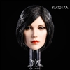 Female Head - Black Short Hair - YMT 1/6 Scale