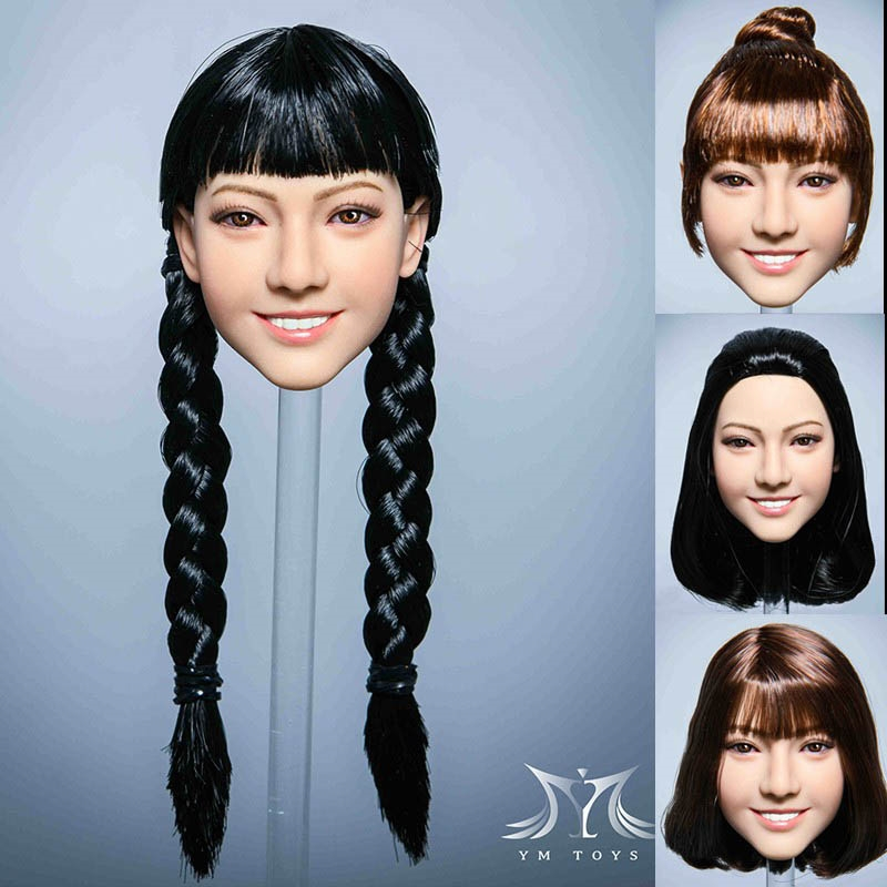 Female Head - Five Versions - YM Toys 1/6 Scale Head Sculpt