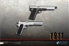 1911 Pistol in Black or Silver - ZY Toys 1/6 Scale Accessory