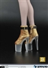 Platform Shoes in Gold - ZY Accessory for 1/6 Figures