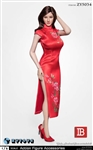 Cheongsam in Red - ZY Toys 1/6 Scale Accessories Set
