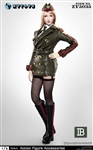 Female Army Uniform in Green - ZY Toys 1/6 Scale Accessories Set